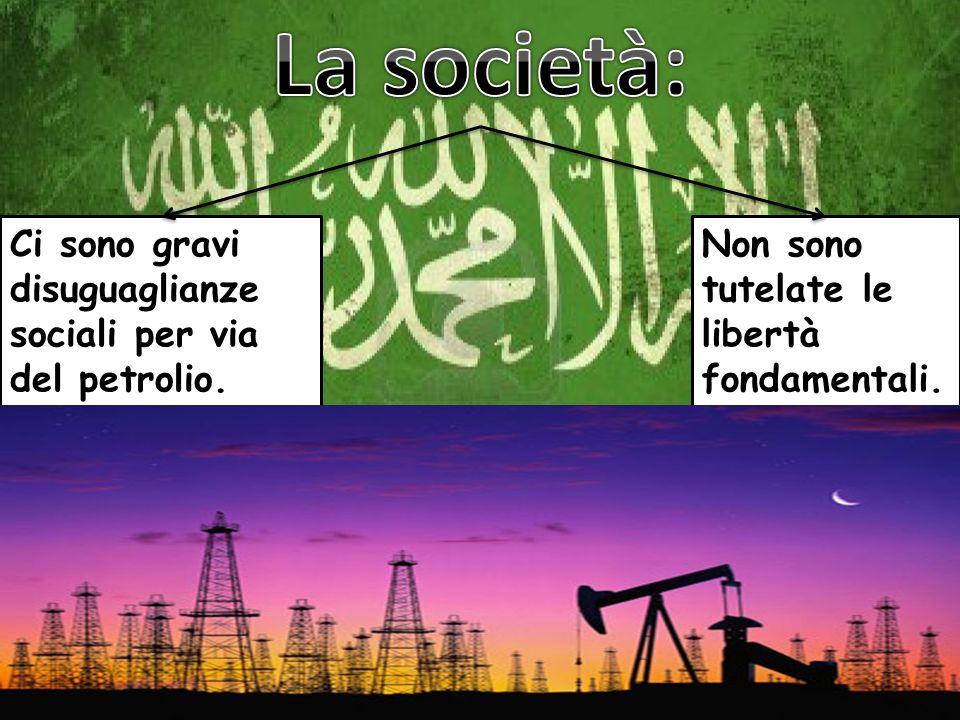 Ci sono gravi disuguaglianze sociali per via del petrolio. Non sono tutelate le libertà fondamentali.
