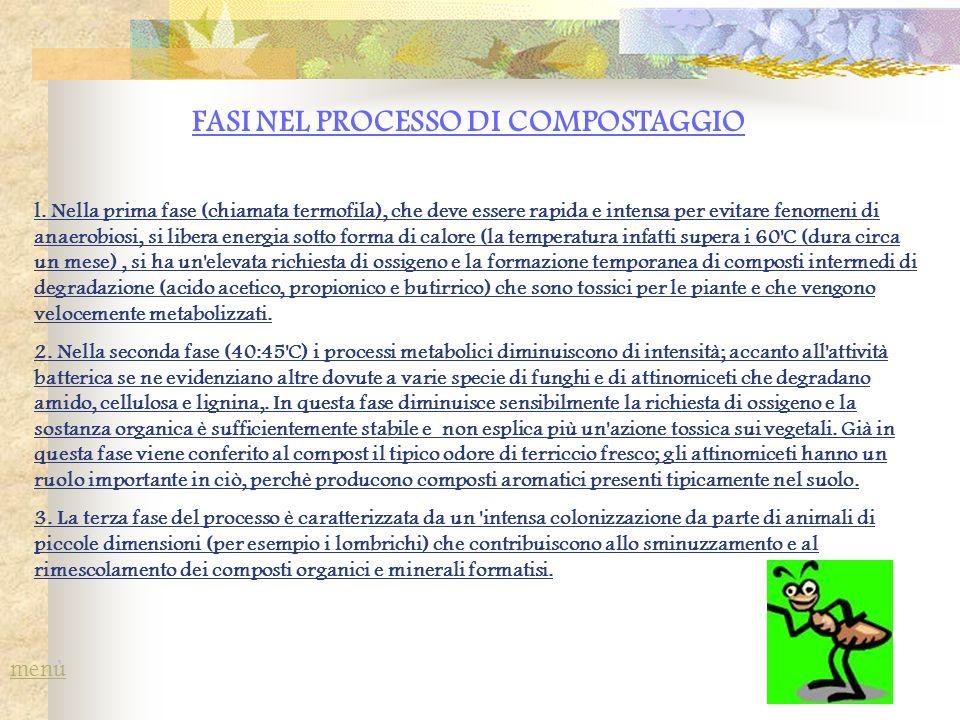OSSIGENO Durante il compostaggio è necessario mantenere le condizioni ambientali in grado di favorire l attività microbica.