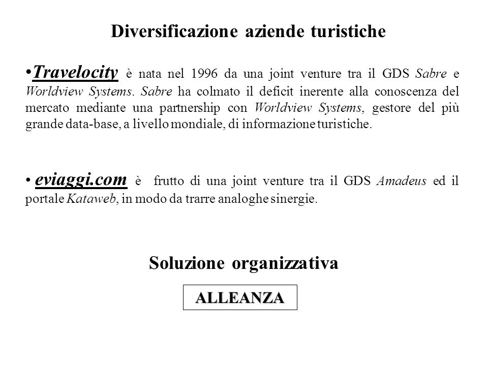 Modello di governance della destinazione (tratto da pag.
