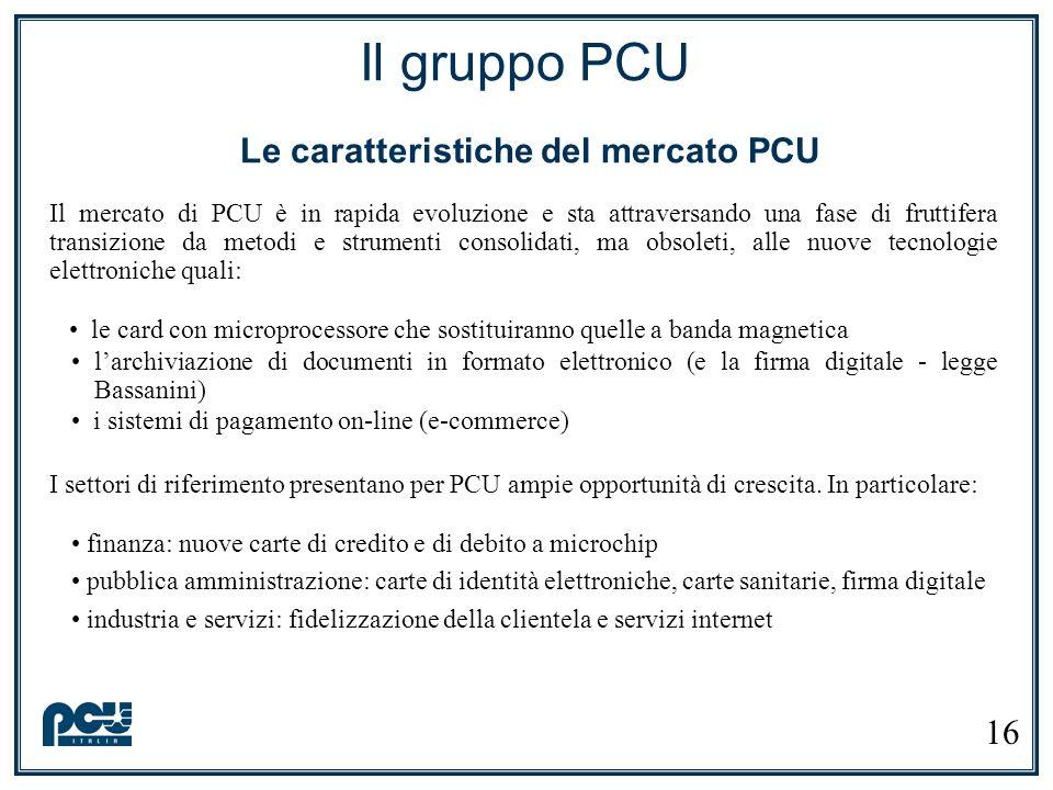 Il mercato di PCU è in rapida evoluzione e sta attraversando una fase di fruttifera transizione da metodi e strumenti consolidati, ma obsoleti, alle n