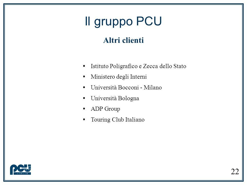 Istituto Poligrafico e Zecca dello Stato Ministero degli Interni Università Bocconi - Milano Università Bologna ADP Group Touring Club Italiano Il gru