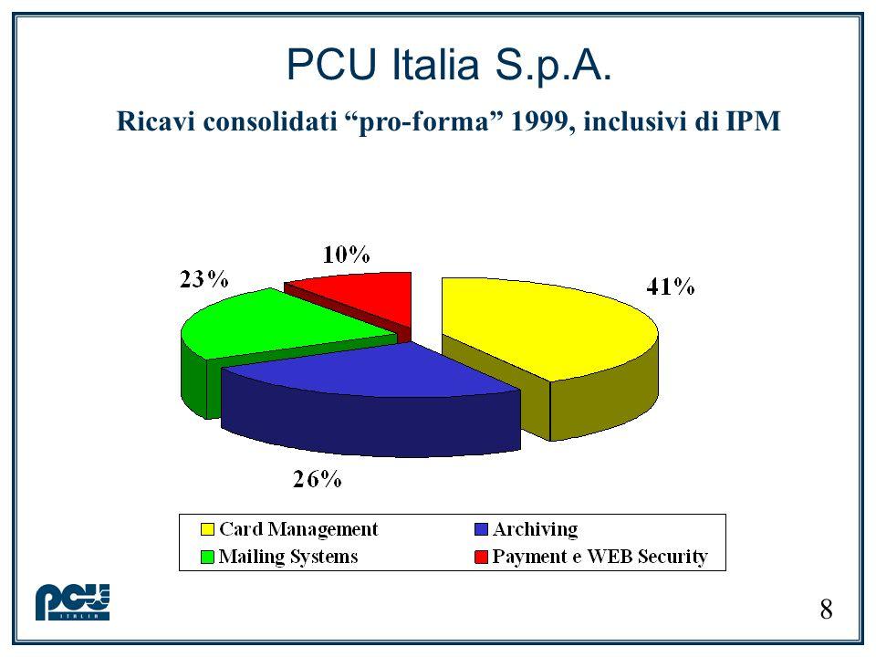Il gruppo PCU Note: (*) Impianto produttivo operativo entro la fine del 2001 (**) Joint venture rumena per lo sviluppo di soluzioni per il mercato locale 9 80% 100% 100% 50%