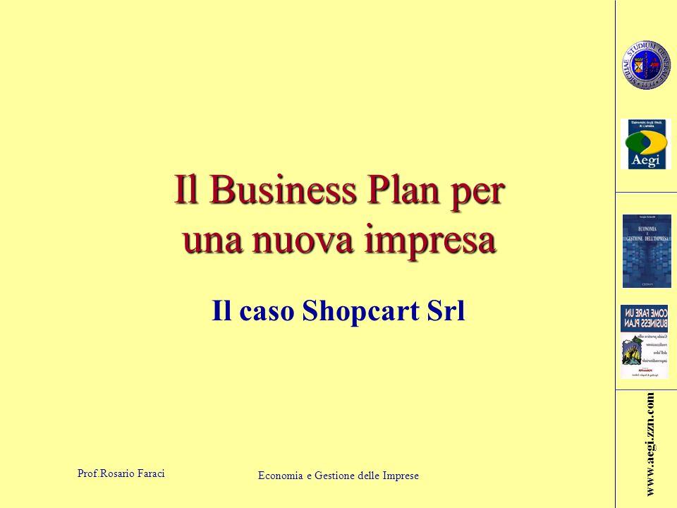 www.aegi.zzn.com Prof.Rosario Faraci Economia e Gestione delle Imprese B.1) Definizione del business della Shopcart - continua Tecnologia utilizzata: –Tecnologia di tipo elettromeccanico (standard)