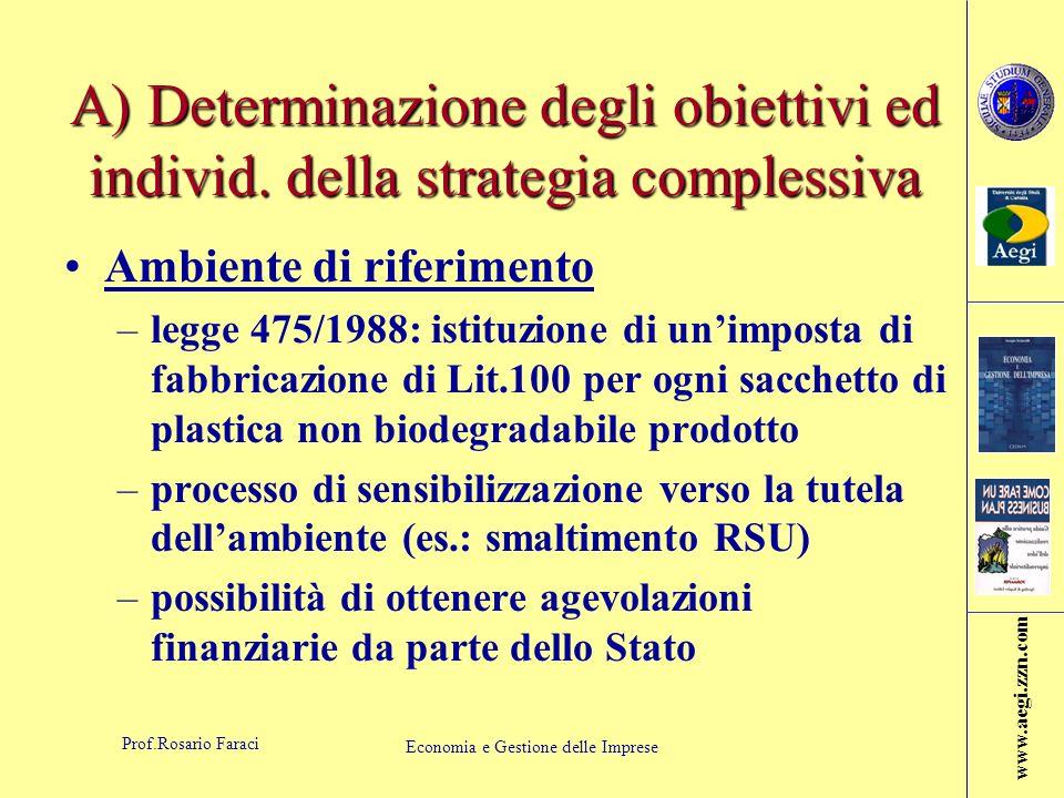 www.aegi.zzn.com Prof.Rosario Faraci Economia e Gestione delle Imprese Struttura organizzativa