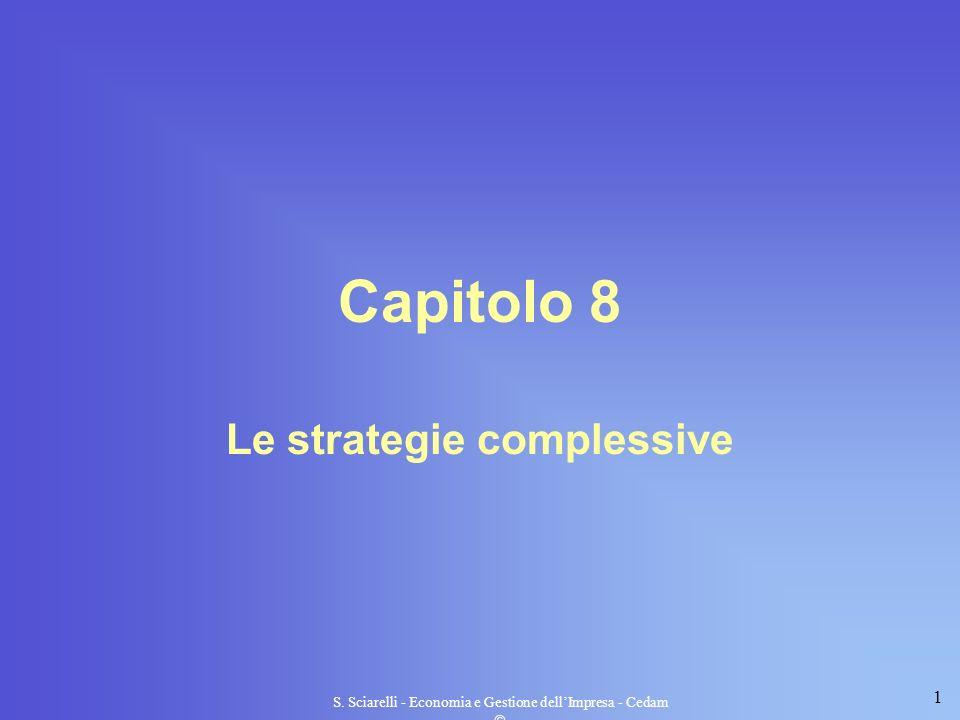 1 S. Sciarelli - Economia e Gestione dellImpresa - Cedam Capitolo 8 Le strategie complessive