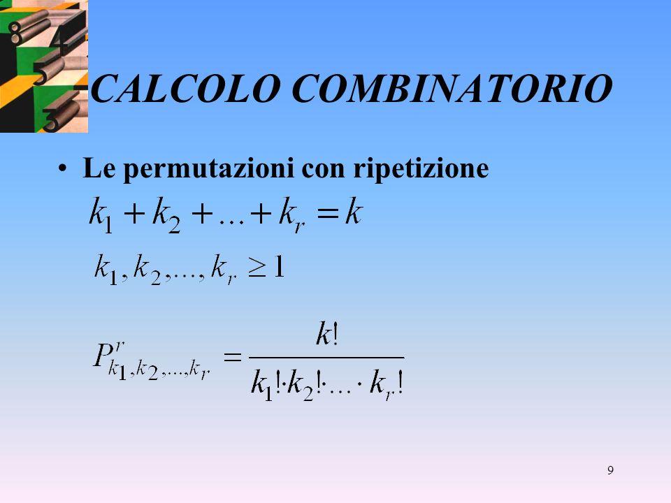8 CALCOLO COMBINATORIO Determinare il numero delle colonne del totocalcio che possono essere giocate.