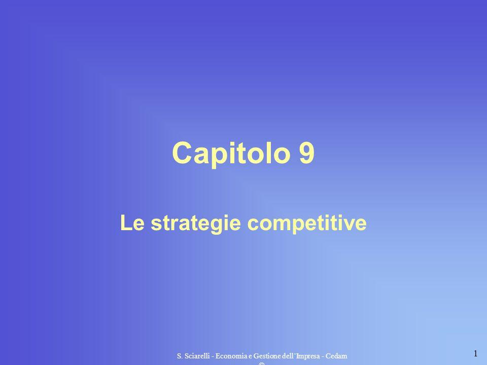 1 S. Sciarelli - Economia e Gestione dellImpresa - Cedam Capitolo 9 Le strategie competitive