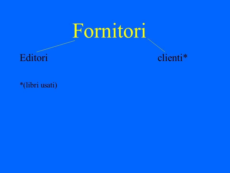Fornitori Editori clienti* *(libri usati)