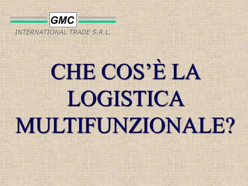 GMC INTERNATIONAL TRADE S.R.L. allavanguardia nella fornitura di servizi nel campo della Logistica Multifunzionale UnAzienda che si colloca nella Logi