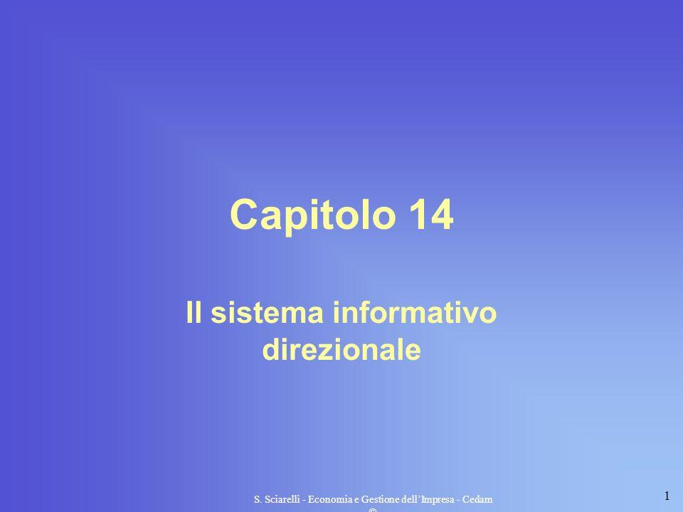 1 S. Sciarelli - Economia e Gestione dellImpresa - Cedam Capitolo 14 Il sistema informativo direzionale