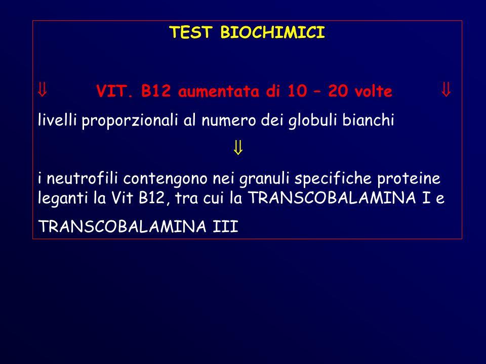 TEST BIOCHIMICI VIT.