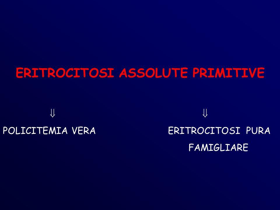 ERITROCITOSI ASSOLUTE PRIMITIVE POLICITEMIA VERA ERITROCITOSI PURA FAMIGLIARE