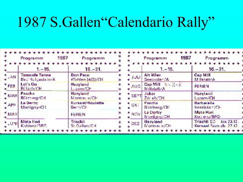 1987 S.GallenCalendario Rally