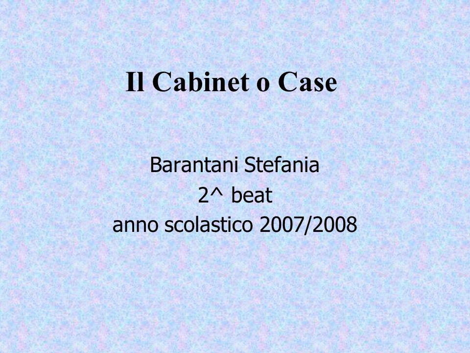Il Cabinet o Case Barantani Stefania 2^ beat anno scolastico 2007/2008
