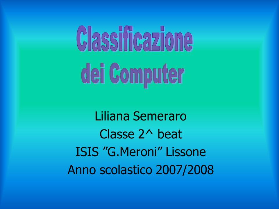 Liliana Semeraro Classe 2^ beat ISIS G.Meroni Lissone Anno scolastico 2007/2008
