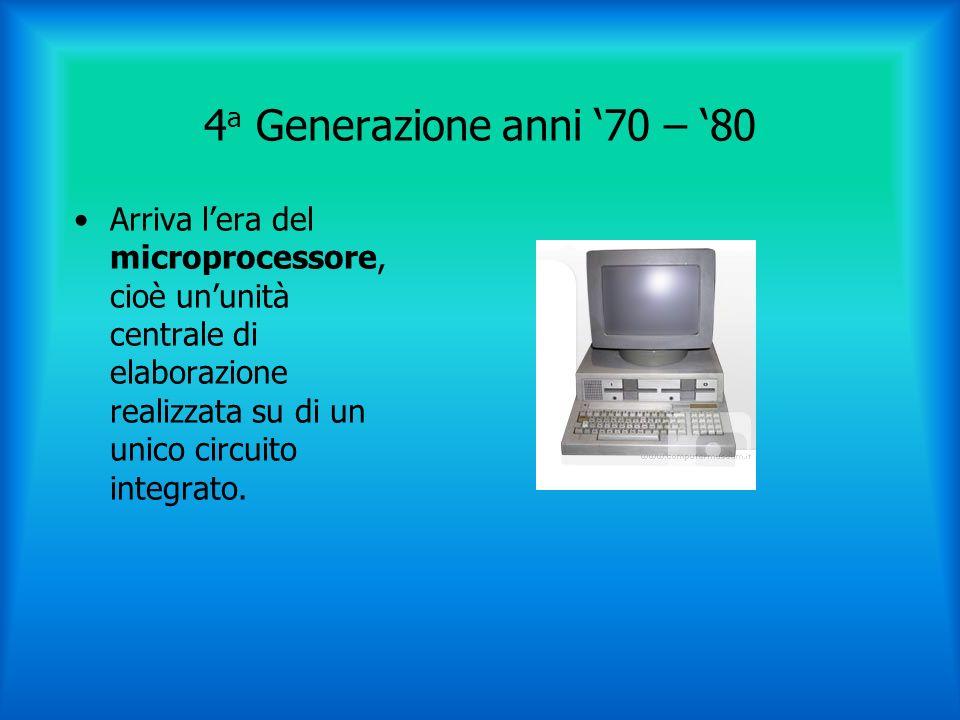 5 a Generazione I computer attuali sono elaboratori in continua evoluzione per diventare sempre più veloci e potenti.