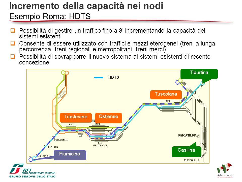 Possibilità di gestire un traffico fino a 3 incrementando la capacità dei sistemi esistenti Consente di essere utilizzato con traffici e mezzi eteroge