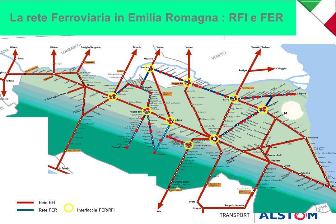 La rete Ferroviaria in Emilia Romagna : RFI e FER Rete RFI Rete FERInterfaccia FER/RFI
