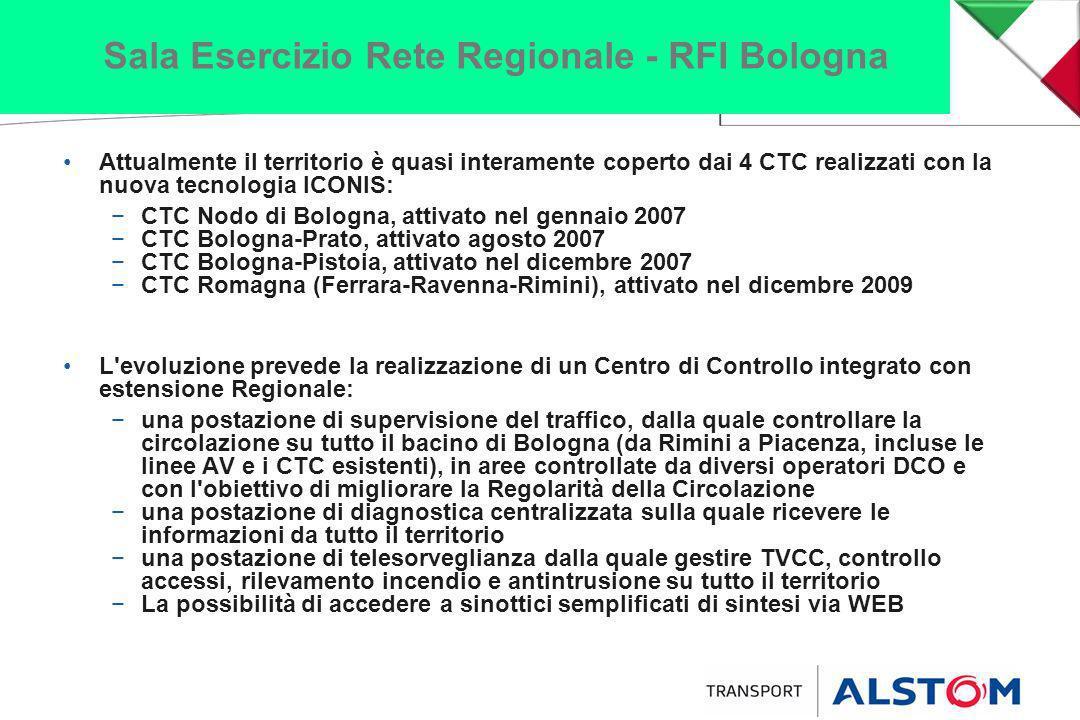 Attualmente il territorio è quasi interamente coperto dai 4 CTC realizzati con la nuova tecnologia ICONIS: CTC Nodo di Bologna, attivato nel gennaio 2