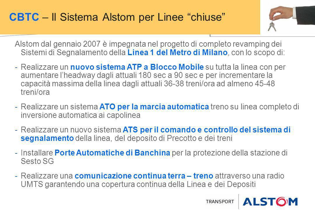 Alstom dal gennaio 2007 è impegnata nel progetto di completo revamping dei Sistemi di Segnalamento della Linea 1 del Metro di Milano, con lo scopo di: