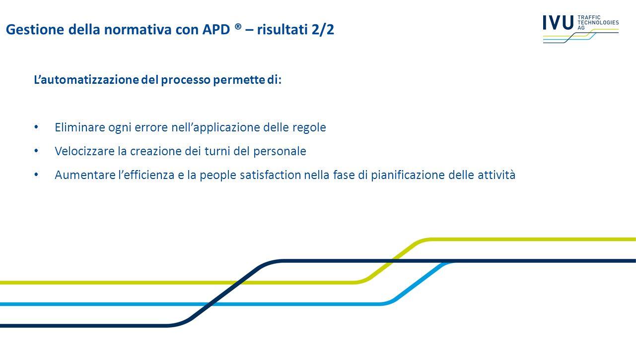 Lautomatizzazione del processo permette di: Eliminare ogni errore nellapplicazione delle regole Velocizzare la creazione dei turni del personale Aumen
