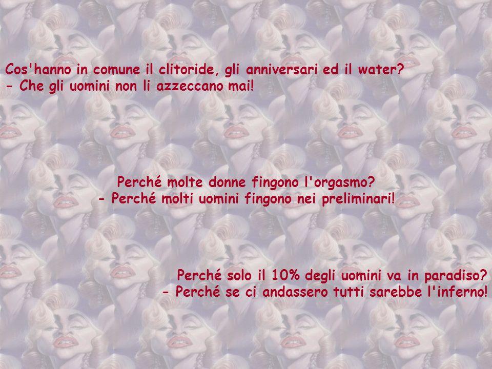 Perché gli uomini vogliono sposare una ragazza ancora vergine? - Perché non sopportano le critiche. Qual è l'uomo più interessante in italia? - Il tur