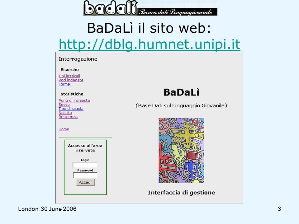 London, 30 June 200624 Litote mica è brutta (1) she isnt so ugly peccato il viso (2) [she isnt so ugly] unless in her face