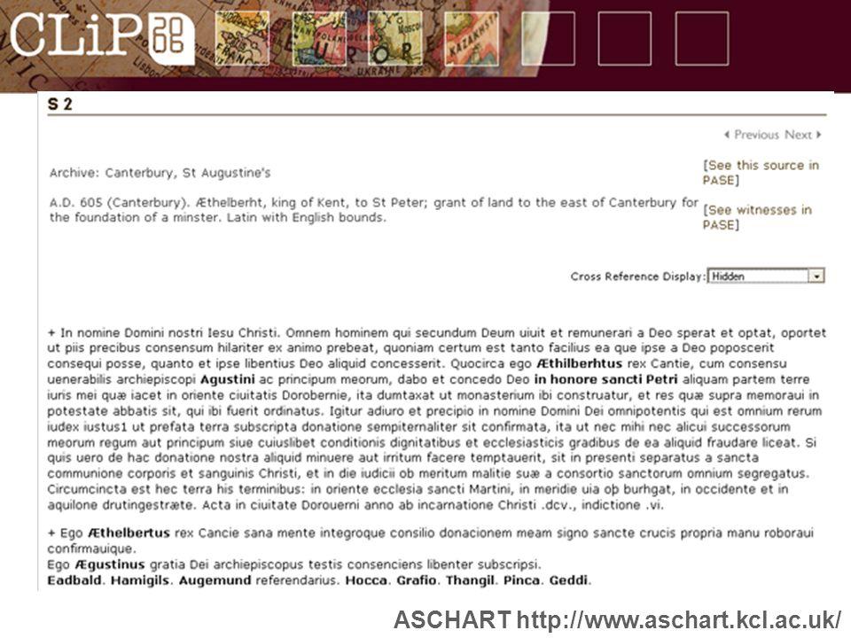 ASCHART http://www.aschart.kcl.ac.uk/