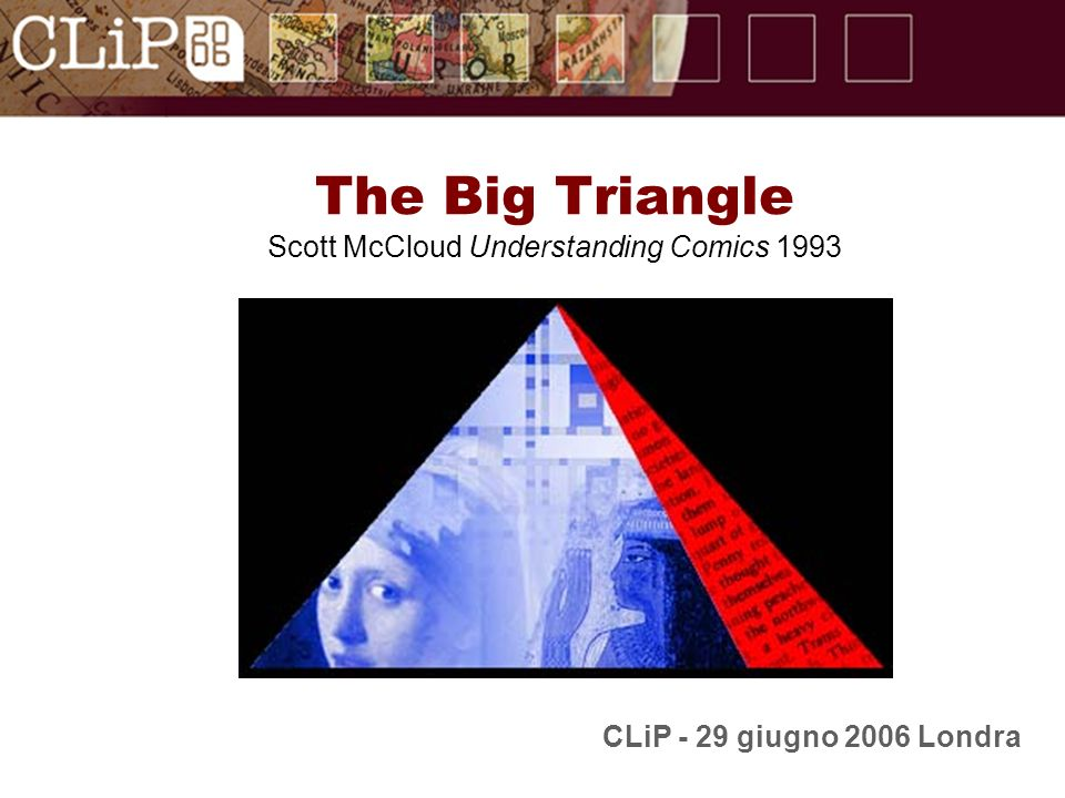 The Big Triangle Scott McCloud Understanding Comics 1993 CLiP - 29 giugno 2006 Londra