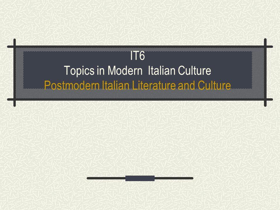 Texts *The classic postmodern *I.Calvino, Se una notte d inverno un viaggiatore (1979) *U.