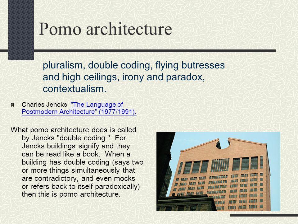 Pomo architecture Charles Jencks