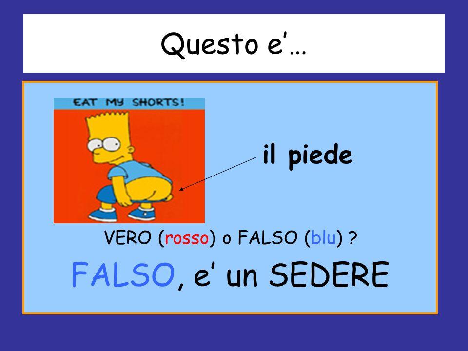 Questo e… il piede VERO (rosso) o FALSO (blu) ? FALSO, e un SEDERE