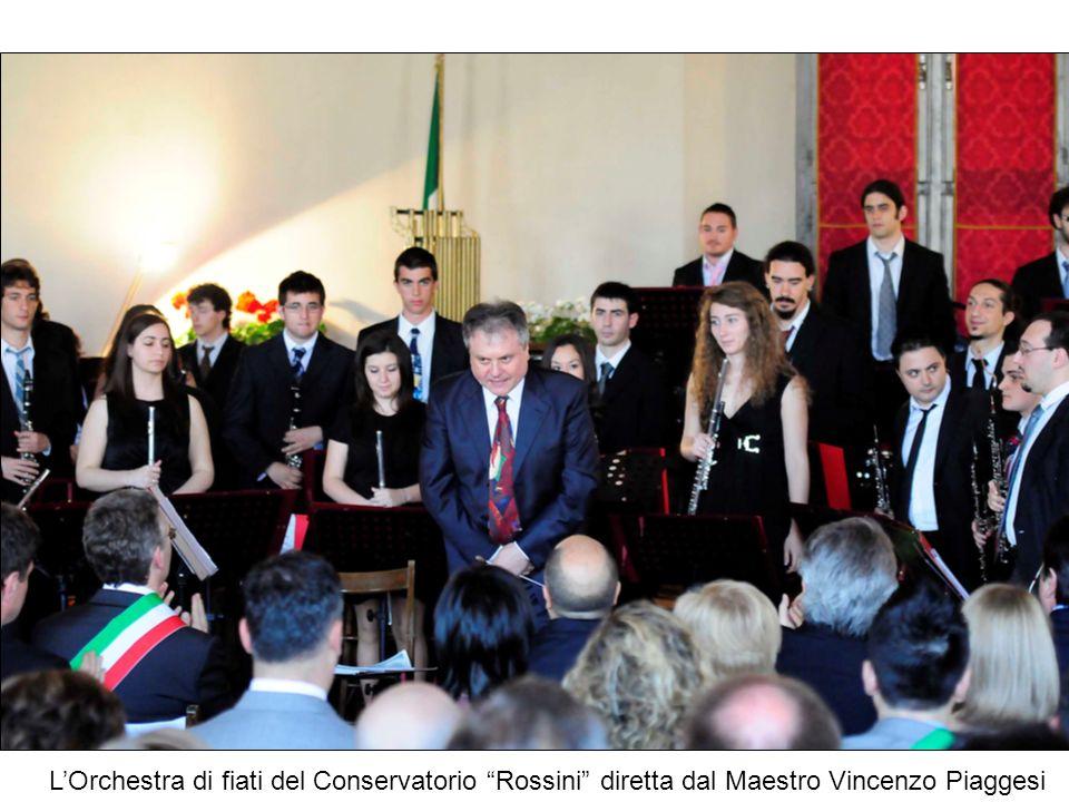 LOrchestra di fiati del Conservatorio Rossini diretta dal Maestro Vincenzo Piaggesi