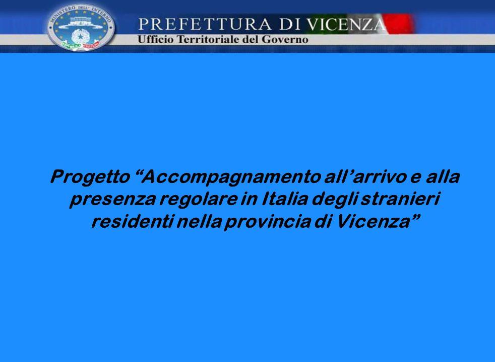 Progetto Accompagnamento allarrivo e alla presenza regolare in Italia degli stranieri residenti nella provincia di Vicenza