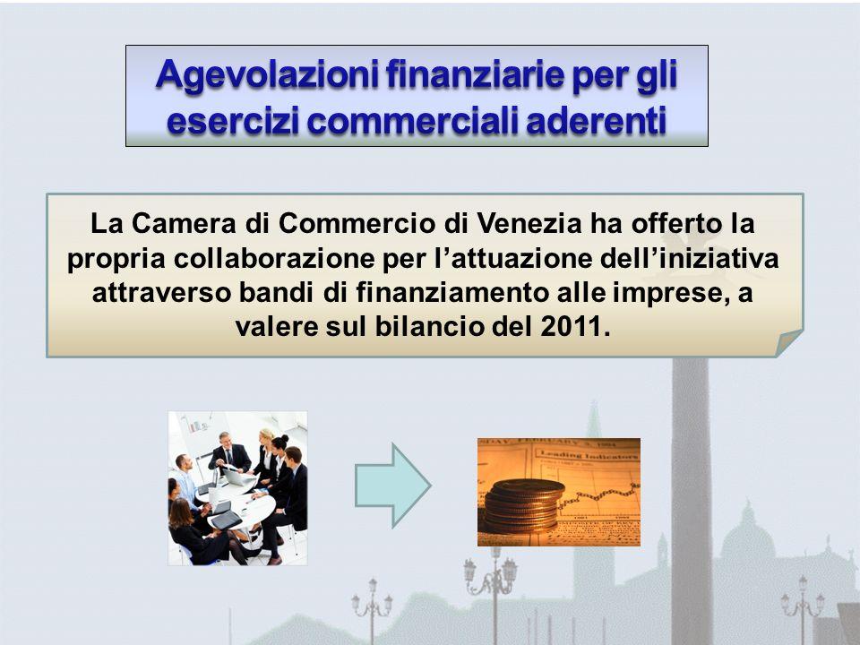 La Camera di Commercio di Venezia ha offerto la propria collaborazione per lattuazione delliniziativa attraverso bandi di finanziamento alle imprese, a valere sul bilancio del 2011.