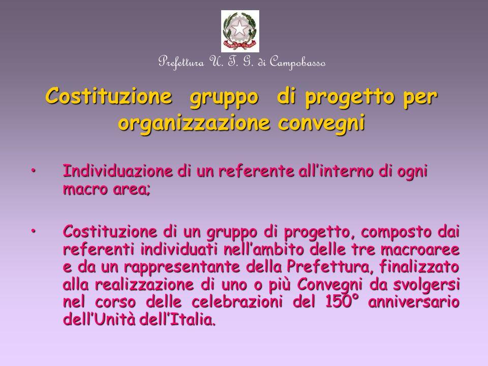 Prefettura U. T. G. di Campobasso Gruppi di lavoro: proposte