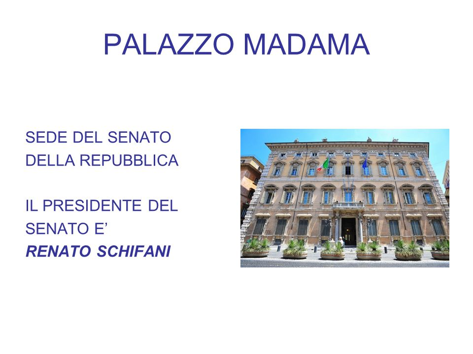 PALAZZO MADAMA SEDE DEL SENATO DELLA REPUBBLICA IL PRESIDENTE DEL SENATO E RENATO SCHIFANI