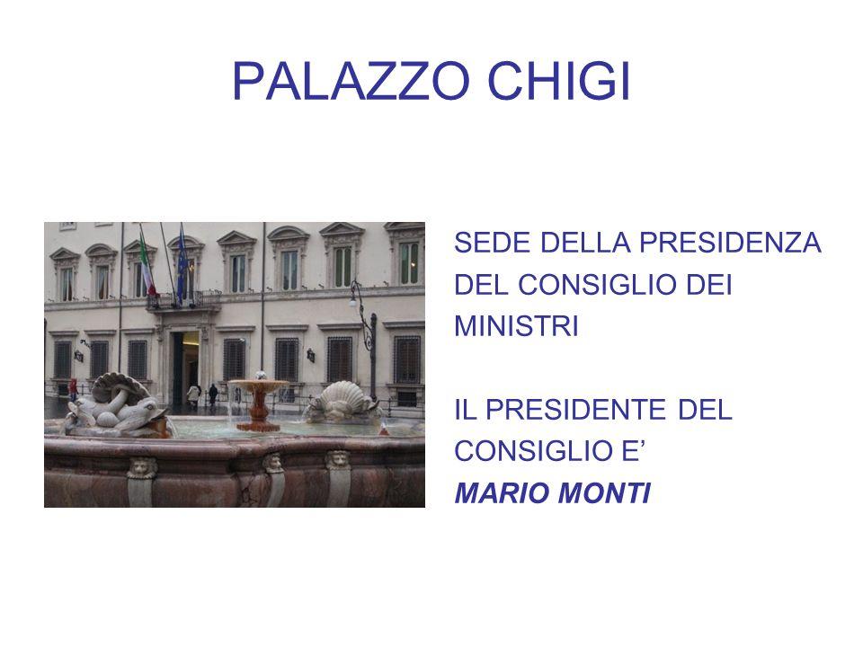 PALAZZO CHIGI SEDE DELLA PRESIDENZA DEL CONSIGLIO DEI MINISTRI IL PRESIDENTE DEL CONSIGLIO E MARIO MONTI