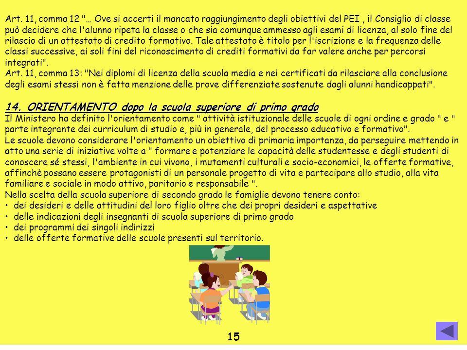 Art. 11, comma 12