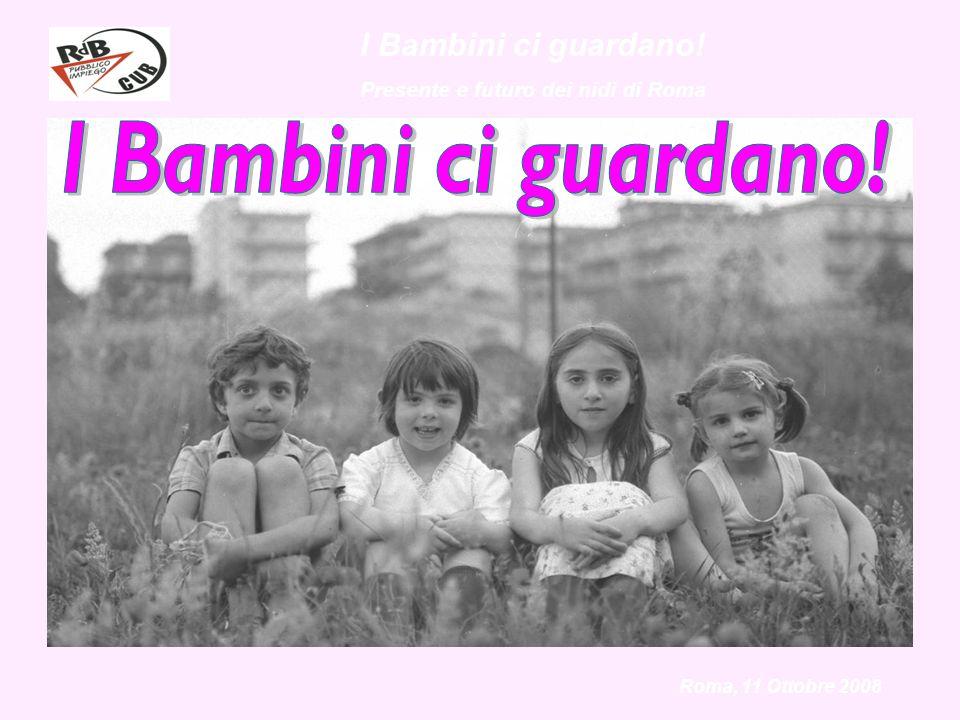 I Bambini ci guardano! Presente e futuro dei nidi di Roma Roma, 11 Ottobre 2008