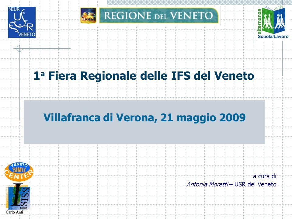 1 a Fiera Regionale delle IFS del Veneto Villafranca di Verona, 21 maggio 2009 a cura di Antonia Moretti – USR del Veneto