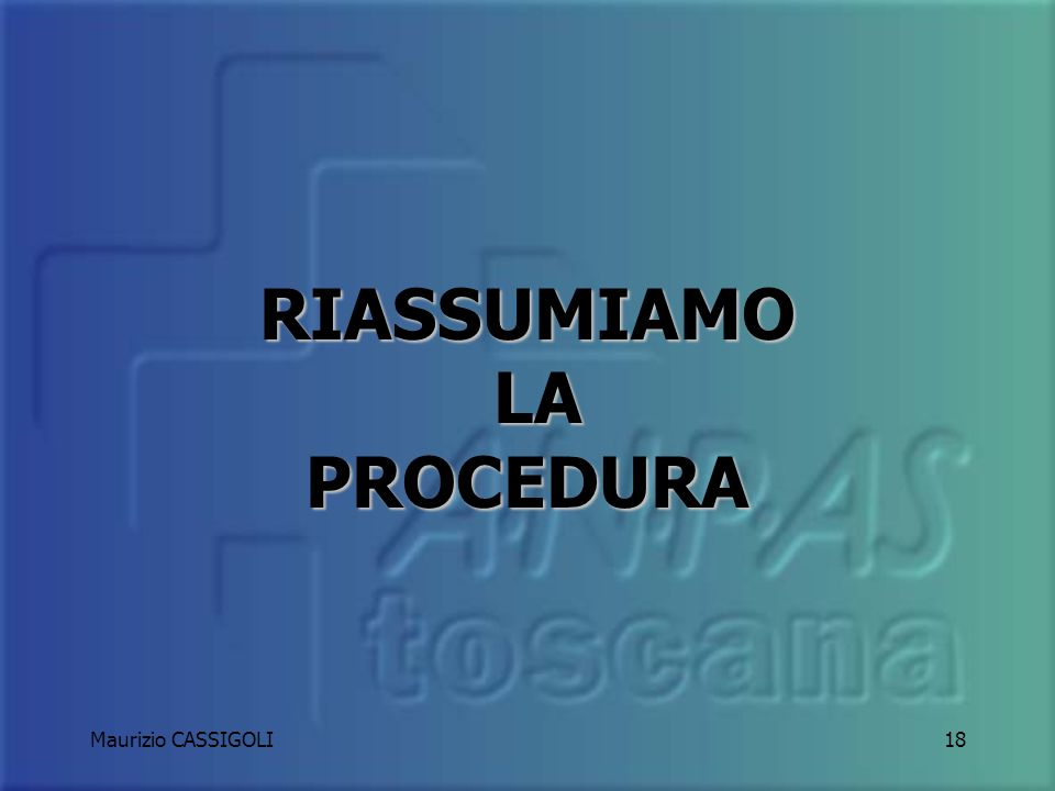 Maurizio CASSIGOLI17 Limportante è arrivare! Nel più breve tempo possibile ma guidando sempre e comunque nel rispetto della comune diligenza e prudenz