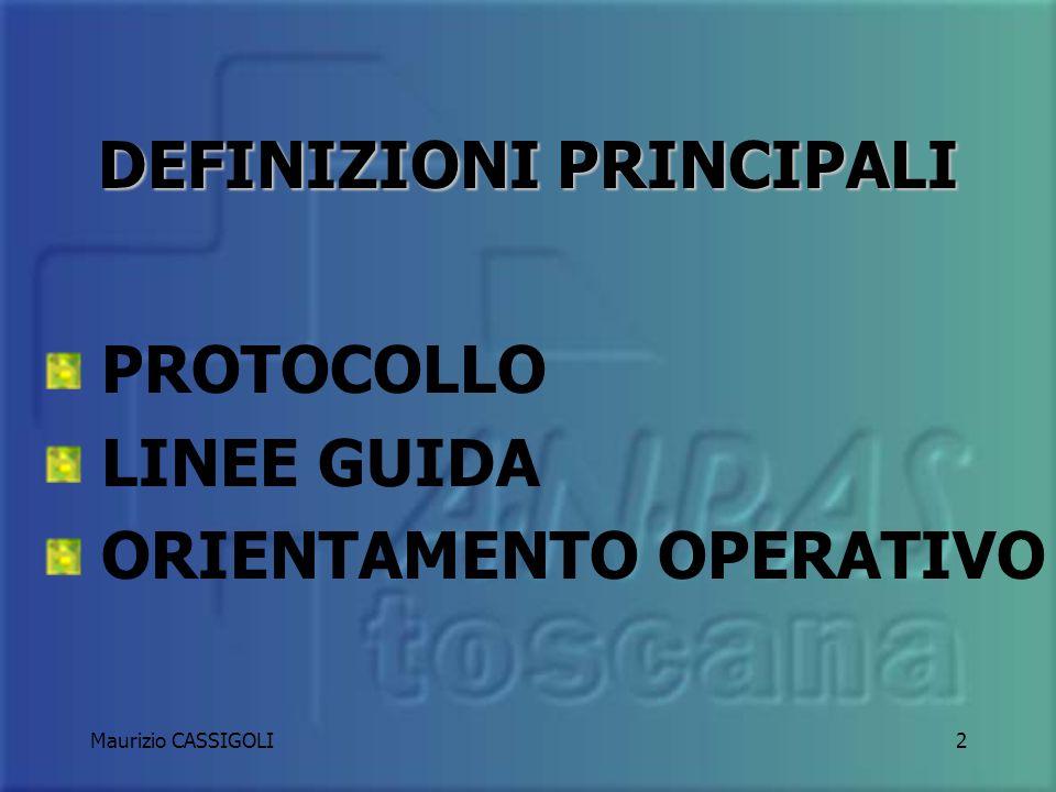 Maurizio CASSIGOLI1 GUIDARE UN MEZZO DI SOCCORSO A cura di Maurizio Cassigoli Procedure operative