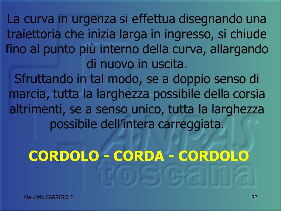 Maurizio CASSIGOLI31 LE CURVE