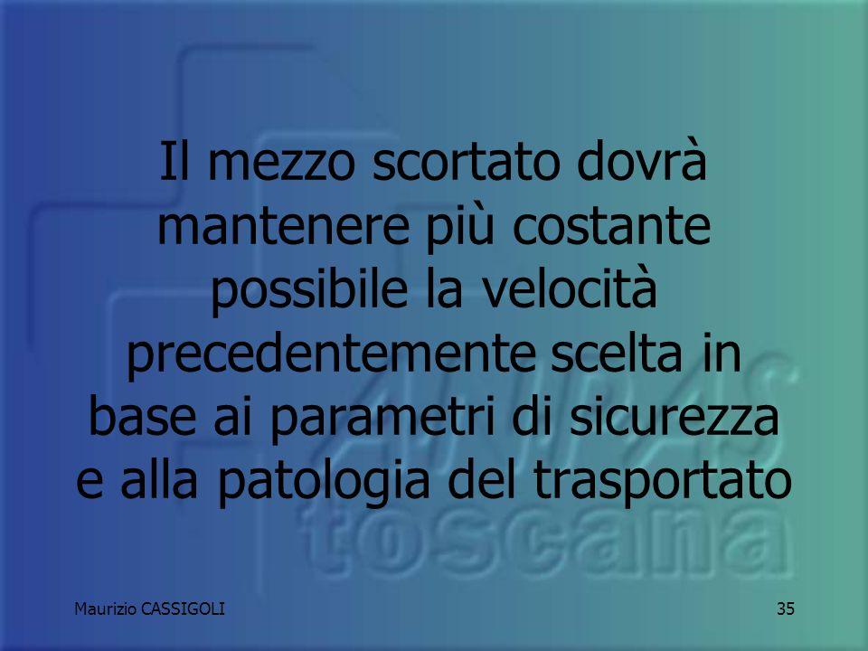 Maurizio CASSIGOLI34 GUIDA SOTTO SCORTA