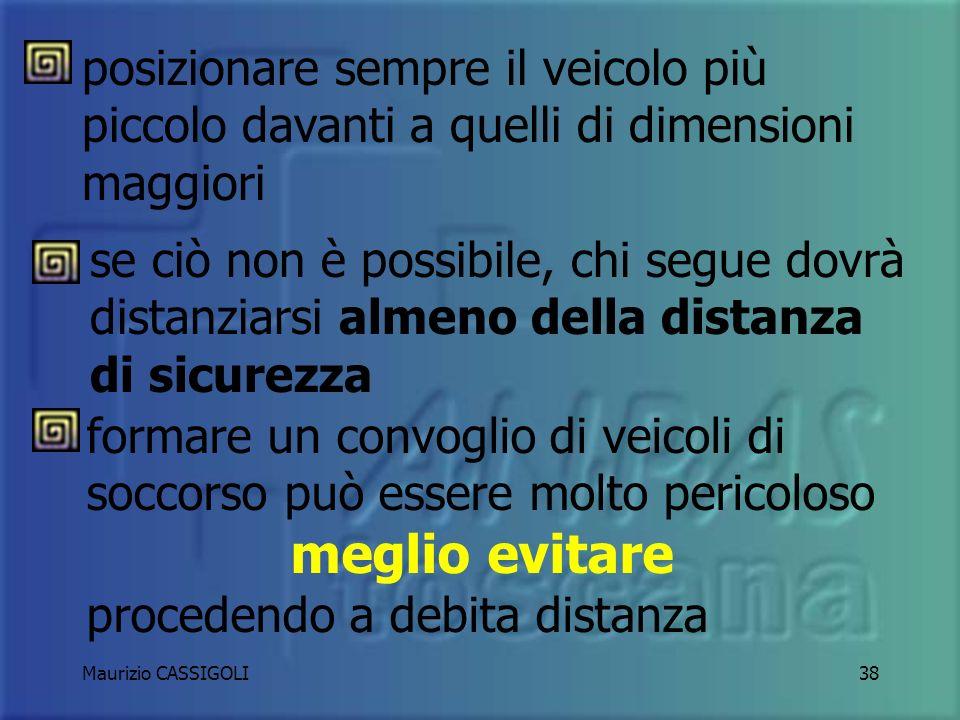 Maurizio CASSIGOLI37 GUIDA IN TANDEM CON ALTRI MEZZI DI SOCCORSO