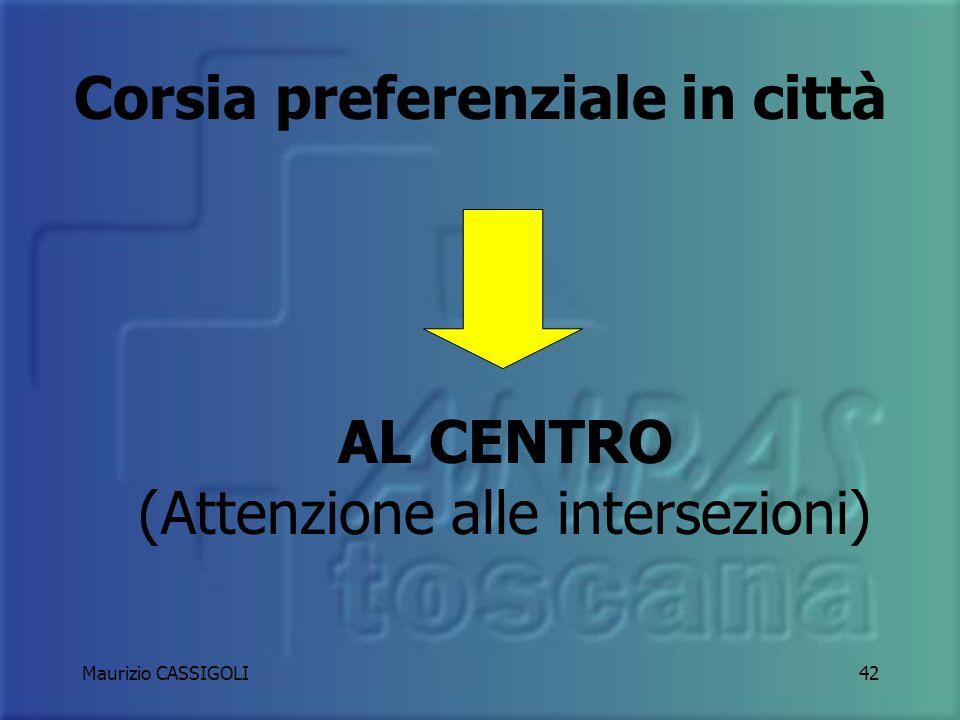 Maurizio CASSIGOLI41 Strada a doppio senso di marcia A CAVALLO DELLA LINEA DI MEZZERIA E SUBITO A DESTRA DELLA STESSA