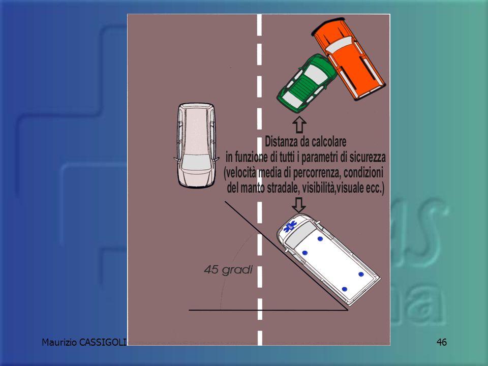 Maurizio CASSIGOLI45 PROTEGGERE PREDISPORRE PREVENIRE La scena dellevento e i soccorritori arrestando il mezzo tra il flusso del traffico e la scena s
