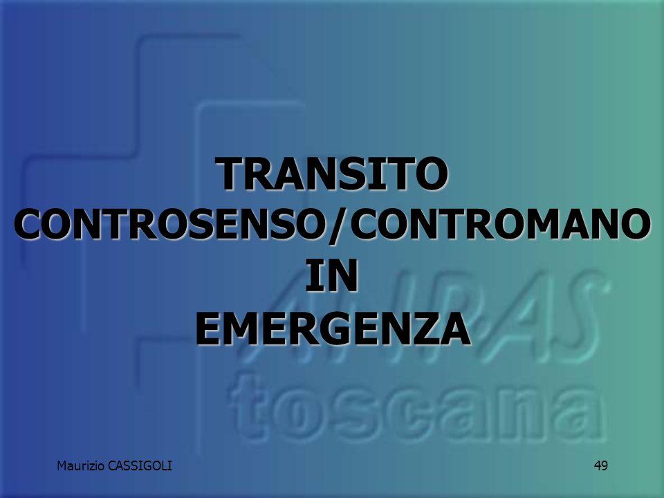 Maurizio CASSIGOLI48 Tra due veicoli in urgenza, transiterà per primo chi dispone del semaforo verde su chi ha il rosso così come chi ha la precedenza