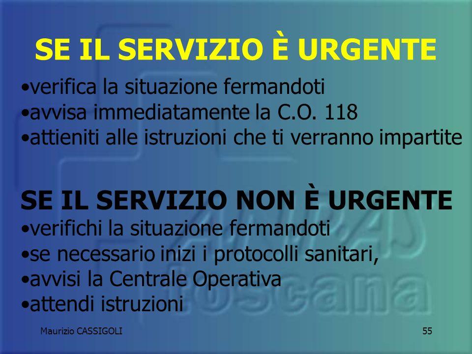 Maurizio CASSIGOLI54 RICHIESTA DI AIUTO DURANTE UNA MISSIONE PRECEDENTEMENTE ASSEGNATA